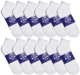 Yacht & Smith Men's No Show Ankle Socks, Premium Quality Cotton Size 10-13 White 12 pack