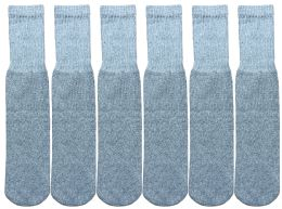 Yacht & Smith Kids Gray Solid Tube Socks Size 4-6 6 pack