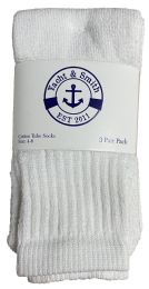 Yacht & Smith Kids White Solid Tube Socks Size 4-6