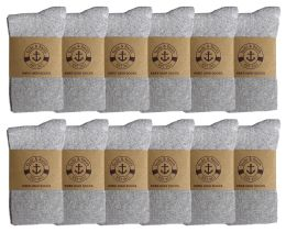 Yacht & Smith Women's Knee High Socks, Solid Gray 90% Cotton Size 9-11