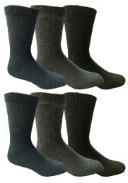 Yacht & Smith Non Slip Gripper Bottom Men's Winter Thermal Tube Socks Size 10-13 6 pack