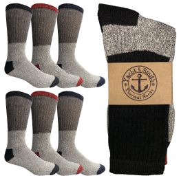 Yacht & Smith Womens Cotton Thermal Crew Socks , Warm Winter Boot Socks 10-13 6 pack