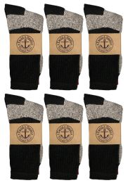 Yacht & Smith Womens Cotton Thermal Crew Socks , Warm Winter Boot Socks 10-13 12 pack