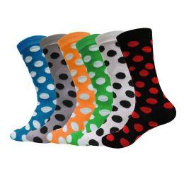 Yacht & Smith Womens Thin Cotton Polka Dot Crew Sock 240 pack