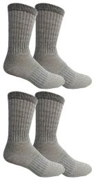 Yacht & Smith Womens Terry Lined Merino Wool Thermal Boot Socks 4 pack