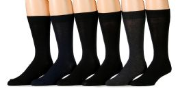 Socksnbulk Men's Fashion Designer Dress Socks (assorted Dark (6 Pairs))