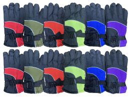 Yacht & Smith Kids Thermal Sport Winter Warm Ski Gloves 12 pack
