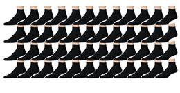 Yacht & Smith Women's Cotton Ankle Socks Black Size 9-11
