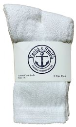 Yacht & Smith Kids Cotton Crew Socks White Size 4-6