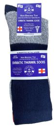 12 Pair of SOCKSNBULK Diabetic Socks, Neuropathy Socks, Colored Diabetic Socks (9-11, Thermal (Gray w/Black Top)) 12 pack