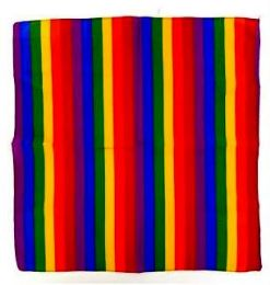 Rainbow Bandanna Head Cover 22x22 Cotton 72 pack