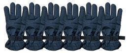 6 Pairs Of Socksnbulk Men's Ski Gloves, Light Weight, Velcro Strap, Waterproof #1973k 6 pack