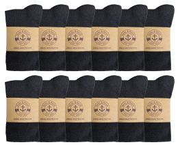 Yacht & Smith Womens Knee High Socks, Cotton, Flat Knit, Solid Colors Black 12 pack