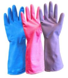 Latex Gloves - Medium/large - Blue