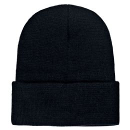 Yacht & Smith Unisex Winter Warm Beanie Hats In Solid Black 36 pack