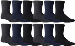 Yacht & Smith Non Slip Gripper Bottom Men's Winter Thermal Tube Socks Size 10-13 36 pack