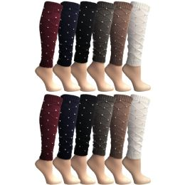Yacht & Smith Women's Leg Warmers, Warm Winter Soft Acrylic Assorted Colors 12 pack