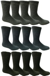 Yacht & Smith Men's Winter Thermal Crew Socks Size 10-13  12 pack