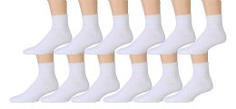 Yacht & Smith Men's Premium Cotton Sport Ankle Socks Size 10-13 Solid White 3600 pack