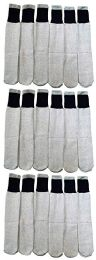 18 Pairs of Wholesale Mens Full Cushion Thermal Tube Socks, Cold Resistant (9-11) 18 pack