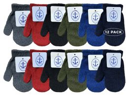 Yacht & Smith Kids Warm Winter Colorful Magic Stretch Mittens Age 2-8 12 pack