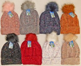 Chenille Hat With Lining 24 pack