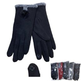 Women's Plush-Lined Touch Screen Gloves 24 pack