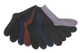 Mens Ribbed Solid Color Dress Socks