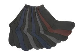Mens Solid Color Dress Socks