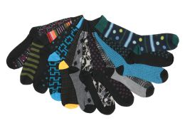 Mens Funky Printed Dress Socks, Mixed Patterns 60 pack