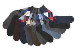 Mens Argyle Dress Socks 60 pack