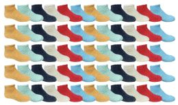 Yacht & Smith Kids Solid Colored Fuzzy Socks , Sock Size 4-6 60 pack