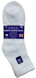 Yacht & Smith Women's Diabetic Cotton Ankle Socks Soft Non-Binding Comfort Socks Size 9-11 White 6 pack