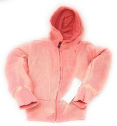 Girl's Coral Full Zipper Hoodie 48 pack