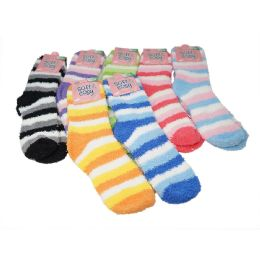 Winter Super Soft Warm Women Soft & Cozy Fuzzy Socks - Size 9-11 144 pack