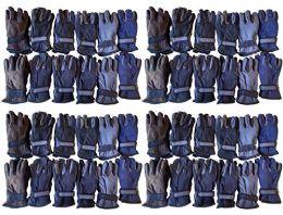 Yacht & Smith Men's Fleece Gloves 48 pack