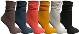 Yacht & Smith 6 Pack Women's Ruffle Slouch Socks Size 9-11