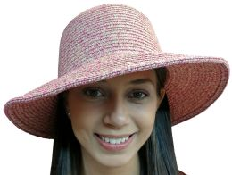 Yacht & Smith Floppy Stylish Sun Hats Bow And Leather Design, Style D - Rose