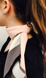 Yacht&smith Neck Scarf With Buckle, 50s Style Retro, Vintage Tie Shawl Wrap (chic Pink)