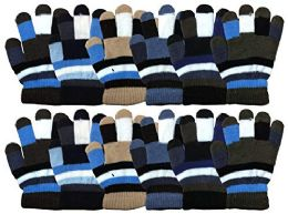 Yacht & Smith 12 Pair Kids Warm Winter Colorful Magic Stretch Gloves For Age 2-5