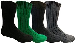 Yacht&smith Merino Wool Socks For Boys, 4 Pairs Ultra Soft, Comfortable Hiking Sock Youth 9-11 (4 Pairs Assorted)