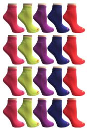 SOCKS'NBULK Womens Cushion Athletic Performance Socks, Neon Sport Socks 60 pack