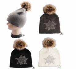 Winter Warm Knit Beanie With Rhine Stone Studs 24 pack