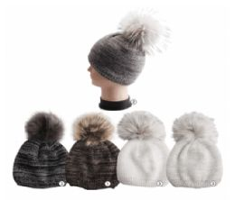 Winter Warm Marled Knit Beanie Assorted Colors 24 pack