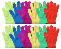 Yacht & Smith Mens Women's, Warm And Stretchy Winter Gloves Assorted