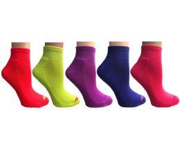 SOCKS'NBULK 20 Pair Pack Womens Cushion Athletic Performance Socks, Neon Sport Socks 20 pack