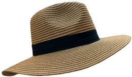 20 Pieces Of Yacht & Smith Floppy Stylish Sun Hats Bow And Leather Design, Style B - Khaki