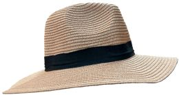 20 Pieces Of Yacht & Smith Floppy Stylish Sun Hats Bow And Leather Design, Style B - Rose