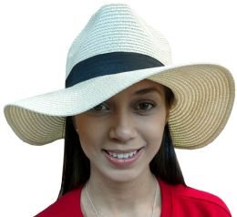 20 Pieces Of Yacht & Smith Floppy Stylish Sun Hats Bow And Leather Design, Style B - White 20 pack