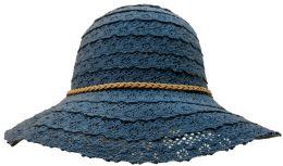 Yacht & Smith Cotton Crochet Sun Hat Soft Lace Design, Style A - Navy